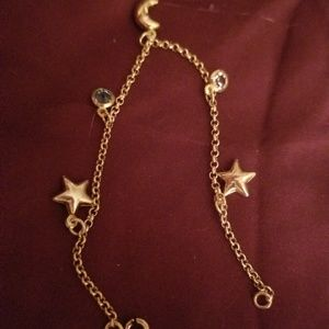 Jewelry - 14k gold over Sterling silver charm bracelet 8 inc